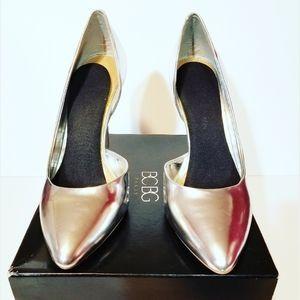 BCBG Jaze Women US 9.5 d'Orsay Metallic Silver